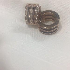 Mk earrings rose gold
